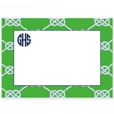 Boatman Geller Personalized Nautical Knot Flat Note  Office Supplies > General Supplies > Paper Products > Stationery