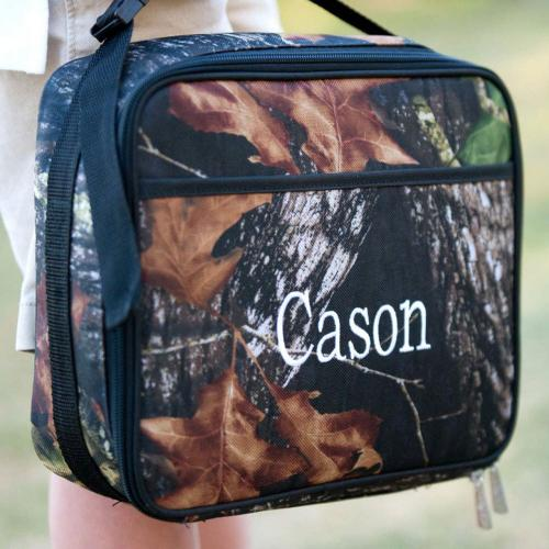 Personalized Woods Camo Lunch Bag  Home & Garden > Kitchen & Dining > Food & Beverage Carriers > Lunch Boxes & Totes