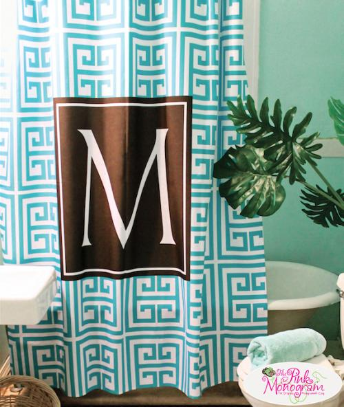 Monogrammed Printed Shower Curtain Design Your Own  Home & Garden > Bathroom Accessories > Shower Curtains
