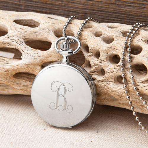 Monogrammed Initial Watch Pendant Necklace for Women   Apparel & Accessories > Jewelry > Watches