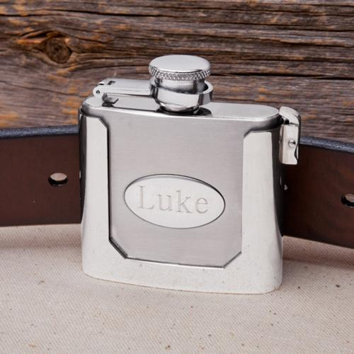 Personalized Flask Men's Belt Buckle  Personalized Flask Men's Belt Buckle Home & Garden > Kitchen & Dining > Food & Beverage Carriers > Flasks