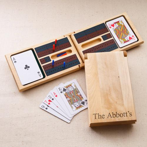 Personalized Wood Cribbage Game Set Personalized Game Set Wood Cribbage  Toys & Games > Puzzles > Wooden & Pegged Puzzles