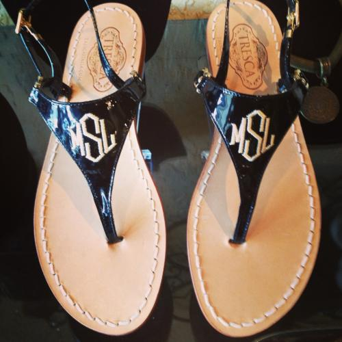 Monogrammed Ladies Italian Bella Sandals in 15 Colors  Apparel & Accessories > Shoes > Sandals