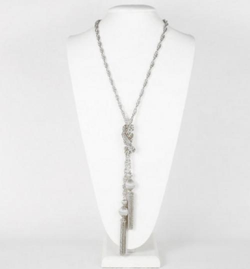 Lisi Lerch Silver Tassel Necklace Lisi Lerch Silver Tassle Necklace Apparel & Accessories > Jewelry > Necklaces