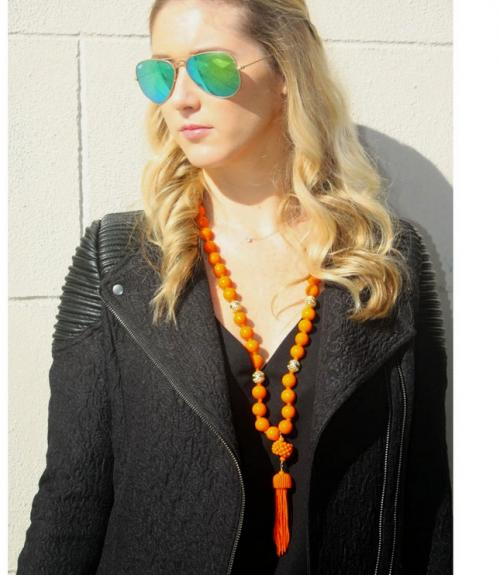 Lisi Lerch Beaded Tassel Necklace  in Several Colors  Apparel & Accessories > Jewelry > Necklaces