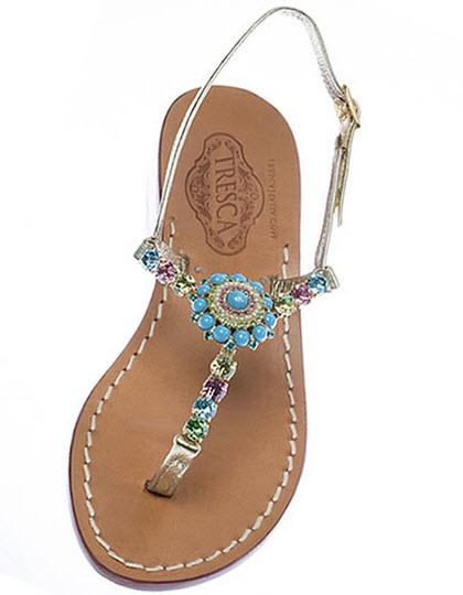Italian Jeweled Sandals  The Lucia  Apparel & Accessories > Shoes > Sandals