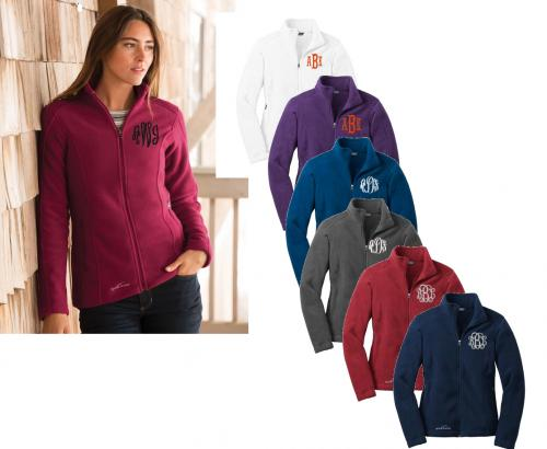 Monogrammed Ladies Eddie Bauer Full Zip Fleece Jacket  Apparel & Accessories > Clothing > Outerwear > Coats & Jackets > Fleece Jackets