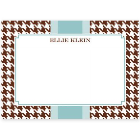 Boatman Geller Personalized Houndstooth Flat Note  Office Supplies > General Supplies > Paper Products > Stationery