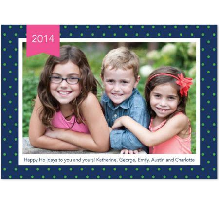 Personalized Dottie Navy Flat Photocard  Office Supplies > General Supplies > Paper Products > Stationery