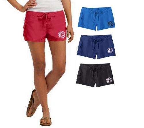 Monogrammed Board Shorts in Junior Sizes  Apparel & Accessories > Clothing > Swimwear > Swim Shorts