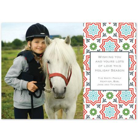 Personalized Kara Tile Flat Photocard  Office Supplies > General Supplies > Paper Products > Stationery