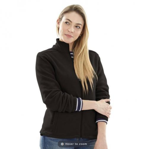 Monogrammed Voyager Black Jacket  Apparel & Accessories > Clothing > Outerwear > Coats & Jackets > Fleece Jackets