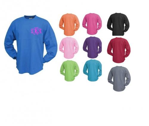 Monogrammed Jersey Spirit Shirts   Apparel & Accessories > Clothing > Activewear > Active Shirts