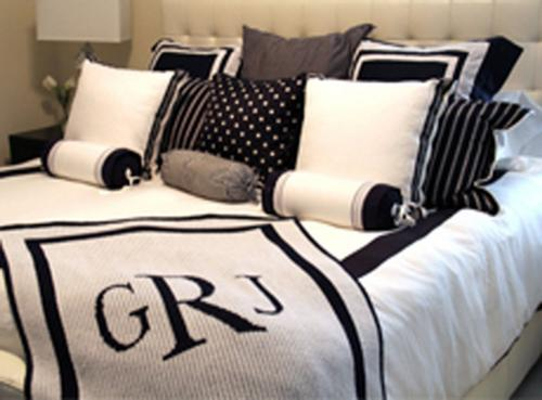 Monogrammed Hand Knit Blankets in Two sizes  Home & Garden > Linens & Bedding > Bedding > Blankets > Throws