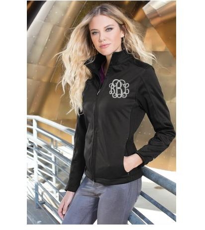 Monogrammed Black Bombshell Jacket   Apparel & Accessories > Clothing > Activewear > Active Jackets