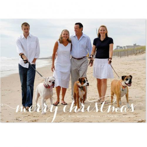 Merry On Photo Holiday Photo Card  Office Supplies > General Supplies > Paper Products > Stationery