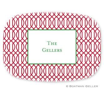 Persoanalized Trellis Reverse Cherry Melamine Platter  Home & Garden > Kitchen & Dining > Tableware > Serveware > Serving Platters