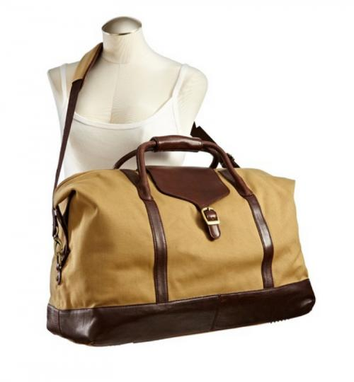 Personalized Canvas and Leather Weekender Duffel Bag  Luggage & Bags > Duffel Bags