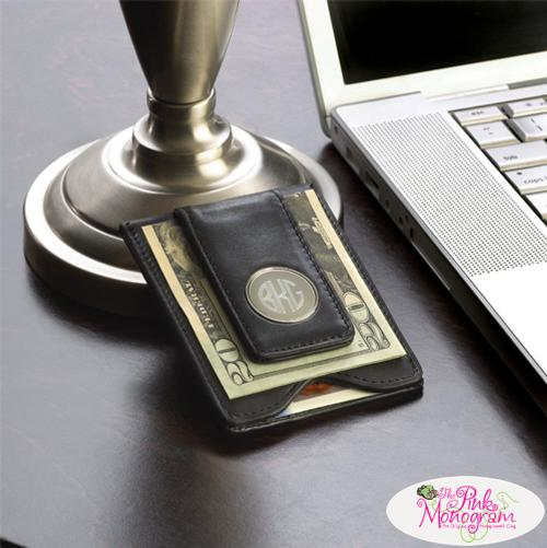Personalized Wallet and Money Clip Men's in Black Leather Personalized Wallet and Money Clip  Mens Black Leather  Apparel & Accessories > Clothing Accessories > Wallets & Money Clips