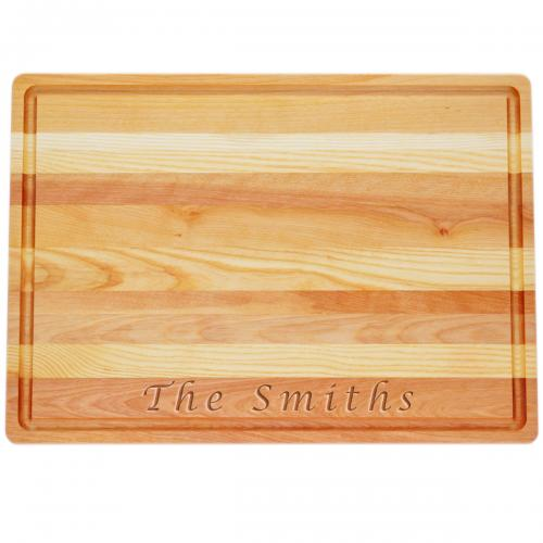 Personalized Wooden Cutting Board Large Master  Home & Garden > Kitchen & Dining > Tableware > Serveware > Serving Trays