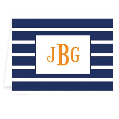 Boatman Geller Personalized Nautical Stripe Note  Office Supplies > General Supplies > Paper Products > Stationery