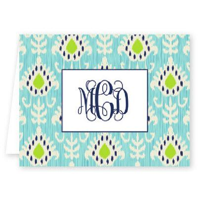 Boatman Geller Personalized Mia Ikat Note  Office Supplies > General Supplies > Paper Products > Stationery