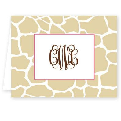 Boatman Geller Personalized Giraffe Note  Office Supplies > General Supplies > Paper Products > Stationery