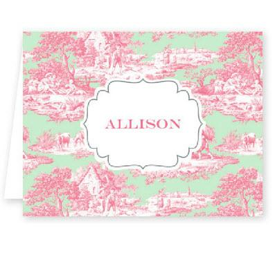 Boatman Geller Personalized Toile Note  Office Supplies > General Supplies > Paper Products > Stationery