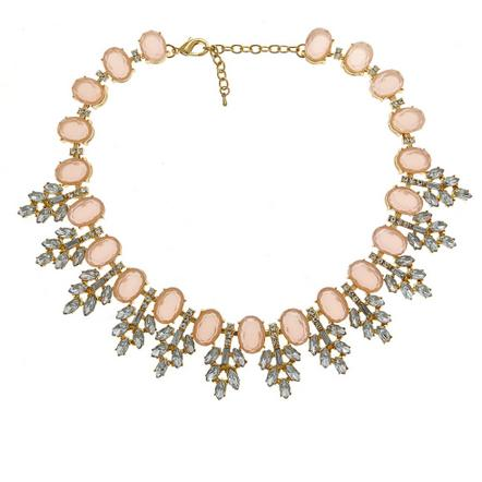 Serena Satement Necklace in Pink Stones Serena Satement Necklace in Pink Stones Apparel & Accessories > Jewelry > Necklaces
