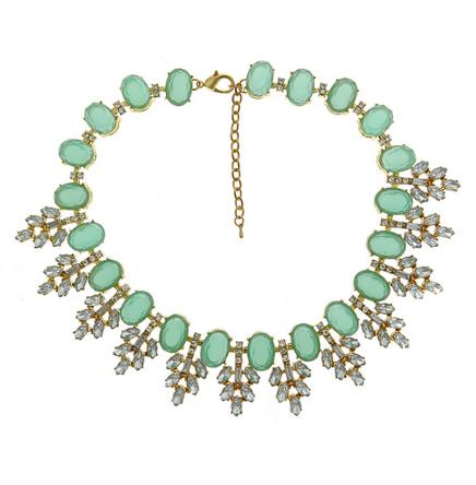 Serena Necklace in Aqua Stones and Crystals Serena Necklace in Agua Stones Apparel & Accessories > Jewelry > Necklaces