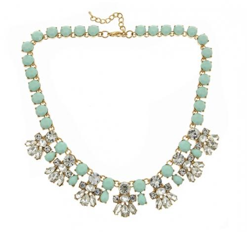 Courtney Statement Necklace With Aqua Stones Courtney Statement Necklace With Aqua Stones Apparel & Accessories > Jewelry > Necklaces