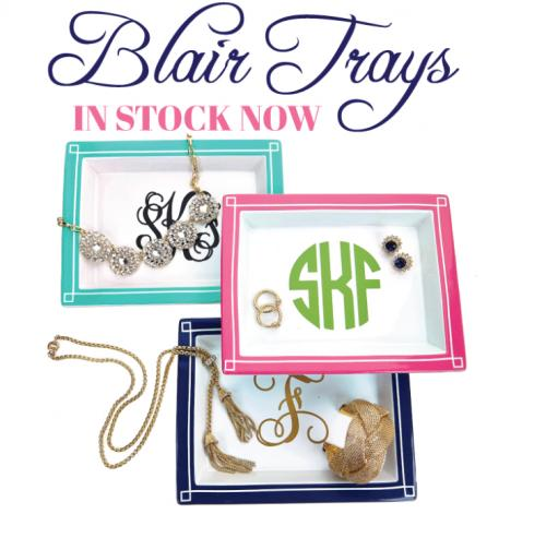 Monogrammed Jewelry Bauble Tray large  Home & Garden > Decor > Decorative Trays