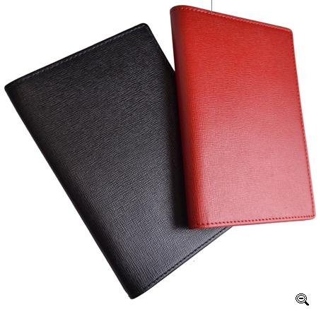 Personalized Staffiano Leather Passport in Red and Black  Apparel & Accessories > Handbags, Wallets & Cases