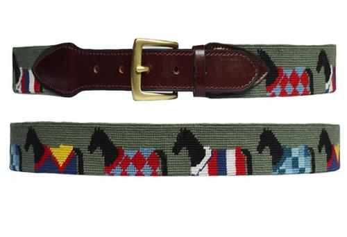 Horse Blanket Needlepoint Belt   Apparel & Accessories > Clothing Accessories > Belts