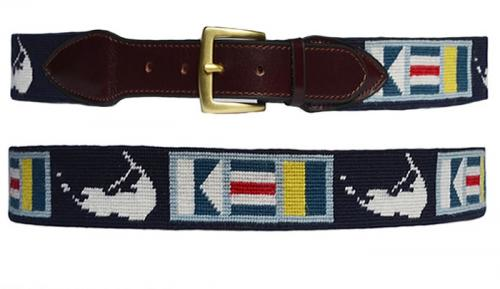 Mens Nantucket Needlepoint Belt  Apparel & Accessories > Clothing Accessories > Belts