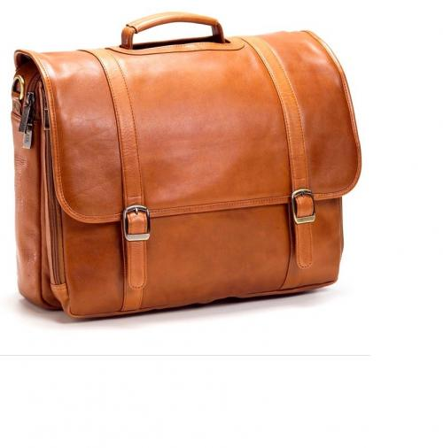 Personalized Executive Leather Flap Laptop Briefcase   Luggage & Bags > Business Bags > Electronics Bags & Cases > Laptop Bags & Cases