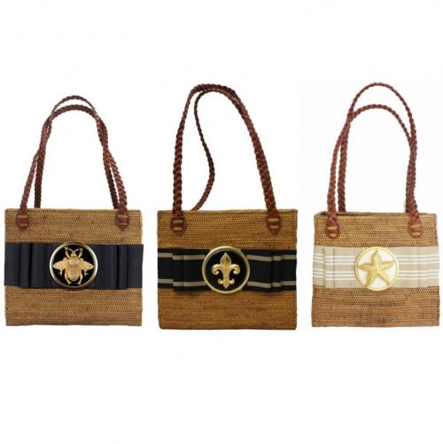 Rectangular Bag Flat Round Adornment   Apparel & Accessories > Handbags > Shoulder Bags