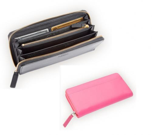 Personalized Ladies Leather Fan Wallet   Apparel & Accessories > Clothing Accessories > Wallets & Money Clips