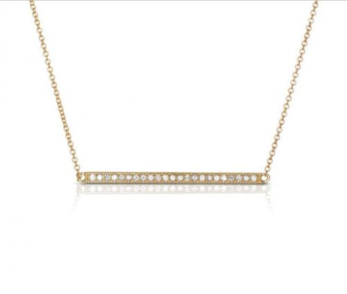 Two Inch Long Diamond Bar Necklace  Apparel & Accessories > Jewelry > Precious Stones > Diamonds