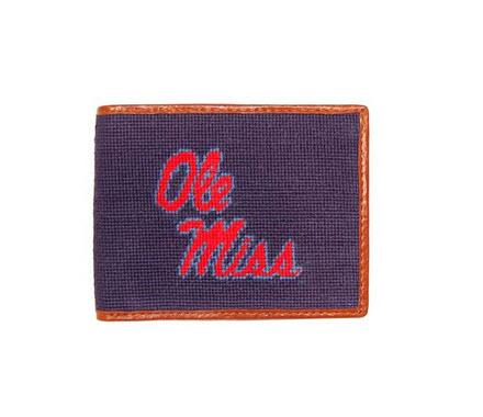 Ole Miss Needelpoint Bifold Wallet  Apparel & Accessories > Clothing Accessories > Wallets & Money Clips