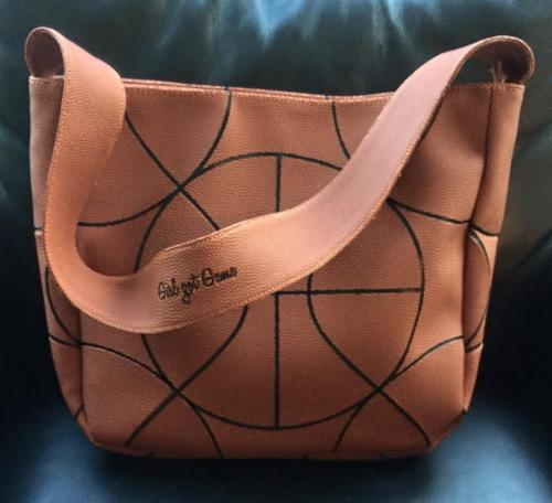 Monogrammed Basketball Tote Perfect For A Basketball Mom  Apparel & Accessories > Handbags > Tote Handbags