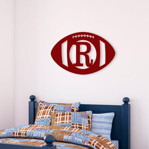 Football Wood Monogram Personalize to Your Decor  Home & Garden > Decor > Plaques