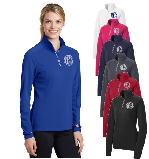 Monogrammed Ladies Sports Pullover  Apparel & Accessories > Clothing > Activewear > Active Jackets