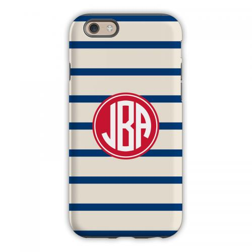 Personalized iPhone Case Nautical Stripe  Electronics > Communications > Telephony > Mobile Phone Accessories > Mobile Phone Cases