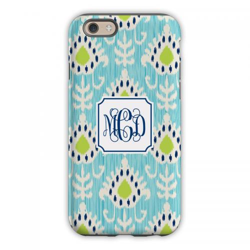 Personalized iPhone Case Mia Ikat Teal   Electronics > Communications > Telephony > Mobile Phone Accessories > Mobile Phone Cases