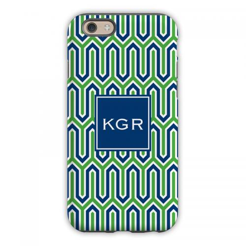 Personalized iPhone Case Blaine Navy & Kelly  Electronics > Communications > Telephony > Mobile Phone Accessories > Mobile Phone Cases