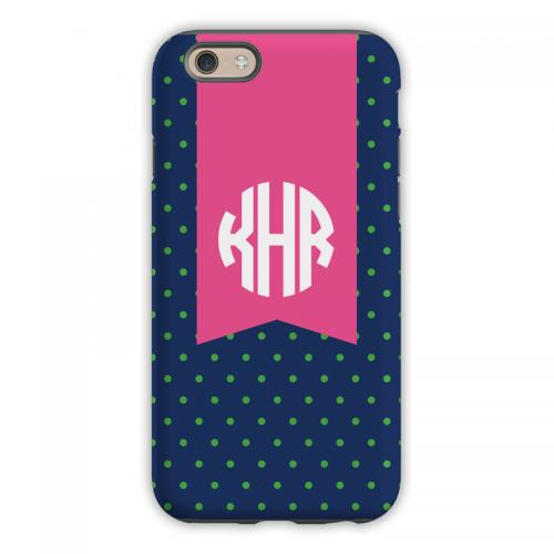 Personalized iPhone Case Dottie Kelly & Navy  Electronics > Communications > Telephony > Mobile Phone Accessories > Mobile Phone Cases
