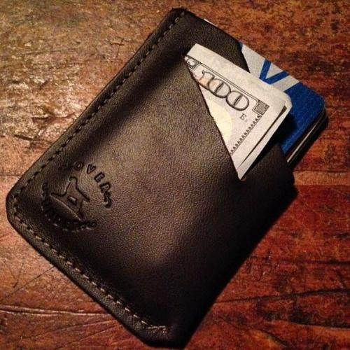 Leather Minimalist Sportsmans Wallet Minimalist Wallet Apparel & Accessories > Clothing Accessories > Wallets & Money Clips