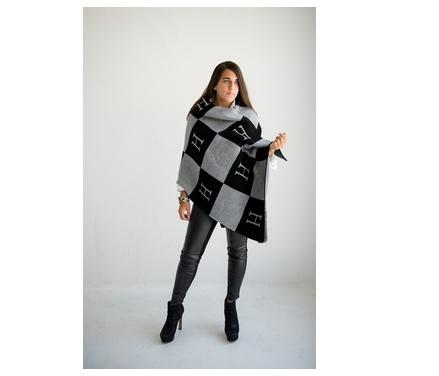 Monogrammed Color Block Knit Wrap From Butterscotch Blankets  Apparel & Accessories > Clothing Accessories > Scarves & Shawls