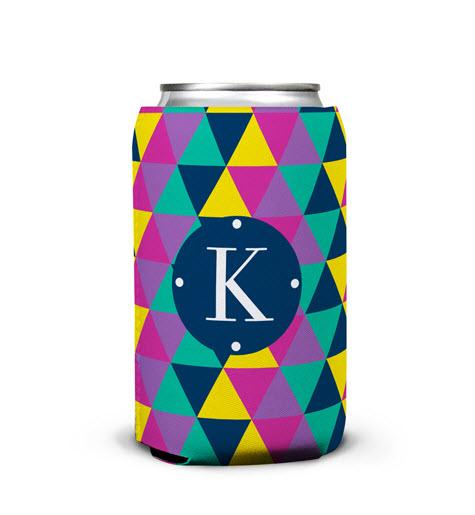 Personalized Can Koozie In Acute Print  Home & Garden > Kitchen & Dining > Food & Beverage Carriers > Drink Sleeves > Can & Bottle Sleeves